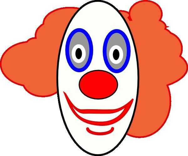 ... Creepy Clown Face clip art Free Vector ...