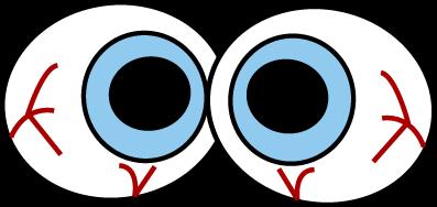 Creepy Eyeballs Clip Art Image .