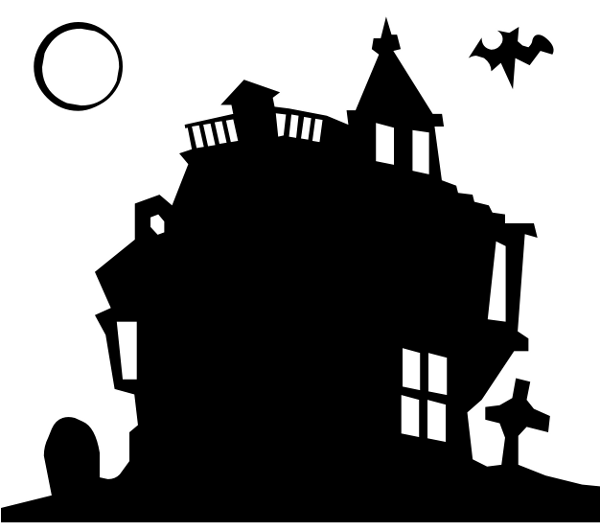 Creepy haunted house clip art-Creepy haunted house clip art-10