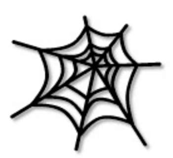 Creepy Spiders Webs Clipart #1