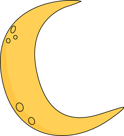 Crescent Moon Clip Art Image Yellow Cres-Crescent Moon Clip Art Image Yellow Crescent Moon With Craters-18