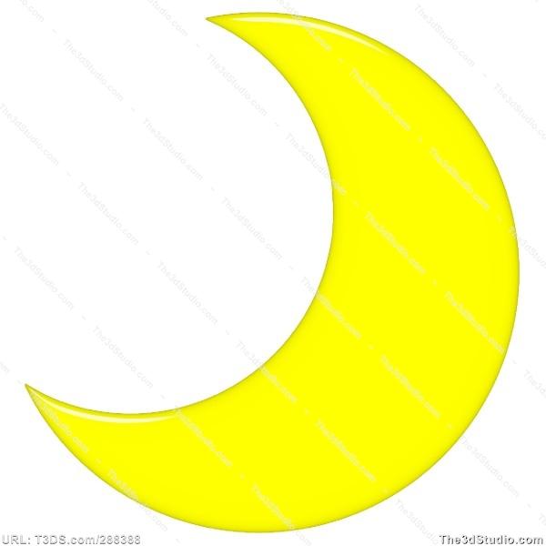 Crescent Moon Clipart .-Crescent Moon Clipart .-4