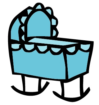 Crib cliparts - Baby Crib Clipart