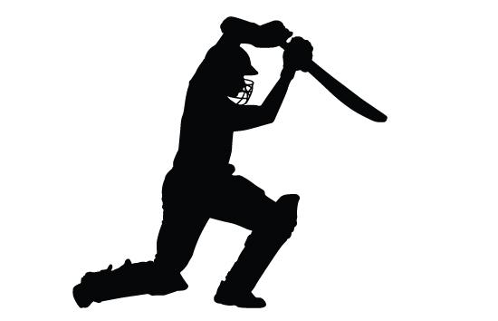 Cricket Clip Art. Cricket Bating Silhoue-Cricket Clip Art. cricket bating silhouette-6