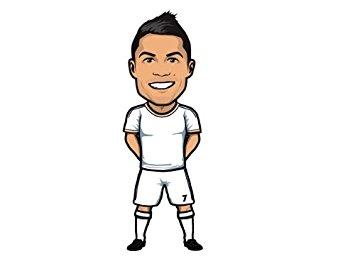 Beautiful Game Cristiano Ronaldo Wall Sticker by Mathieu Marcou-400mm x  200mm