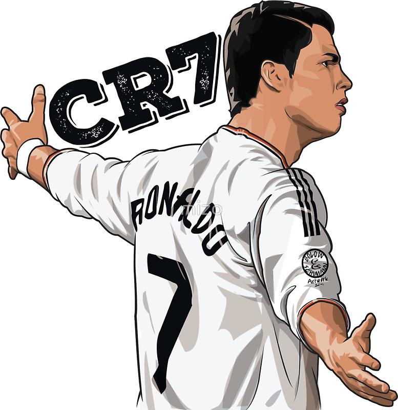CR7 Cristiano Ronaldo Real Madrid Sticke-CR7 Cristiano Ronaldo Real Madrid Stickers by mizo-8