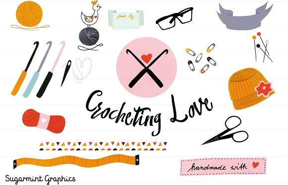 Crochet Clipart Commercial Handmade - Illustrations