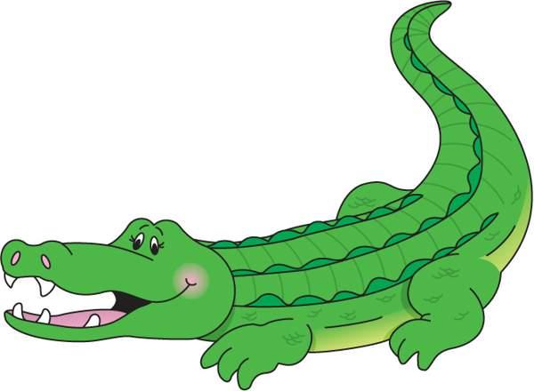 Crocodile aligator clipart kid