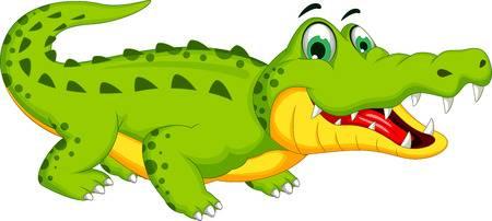 Cartoon Crocodile Posing-Cartoon crocodile posing-4