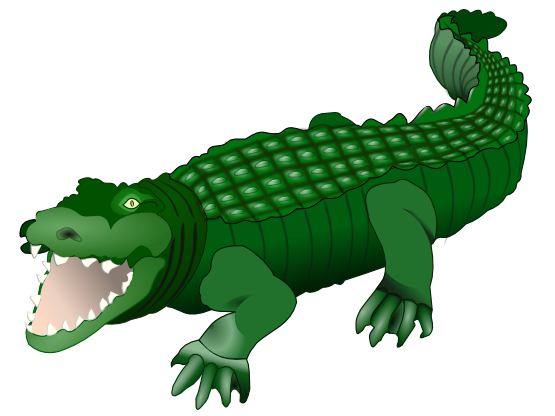 Crocodile free to use clipart