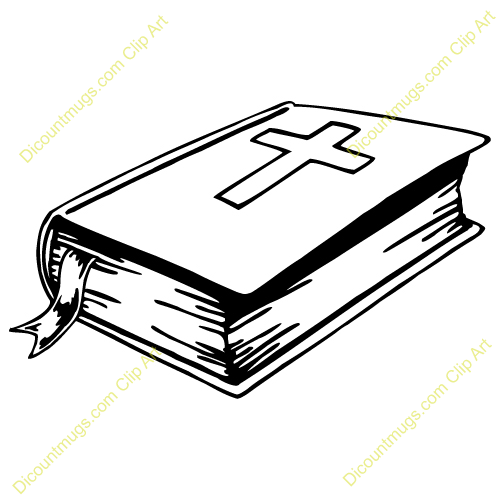 Cross And Bible Clipart .