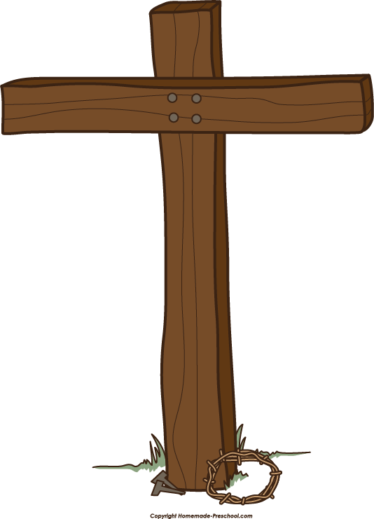 Cross clip art with .