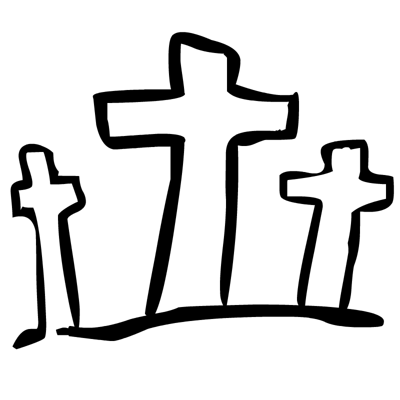 Cross Clipart Black And White .