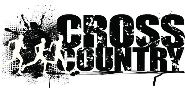 Cross-Country Running Grunge .