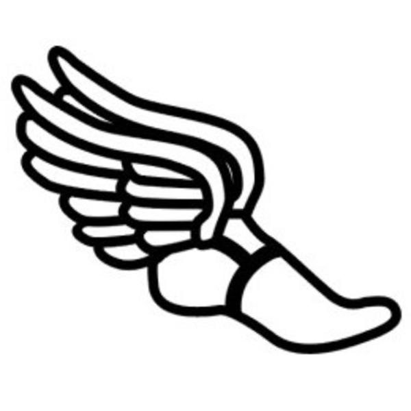 ... Cross country shoe clip art ...