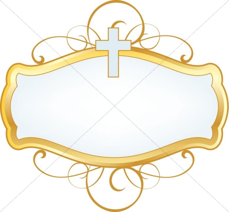 Cross Design Label