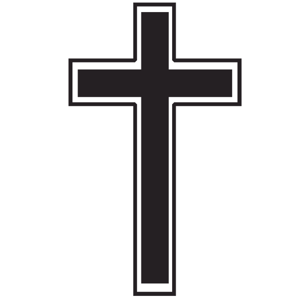 Cross Outline With Clipart .