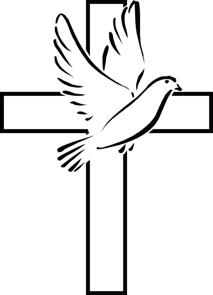 Cross With Dove Clipart