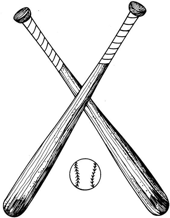 Crossed Baseball Bat Clipart-crossed baseball bat clipart-11