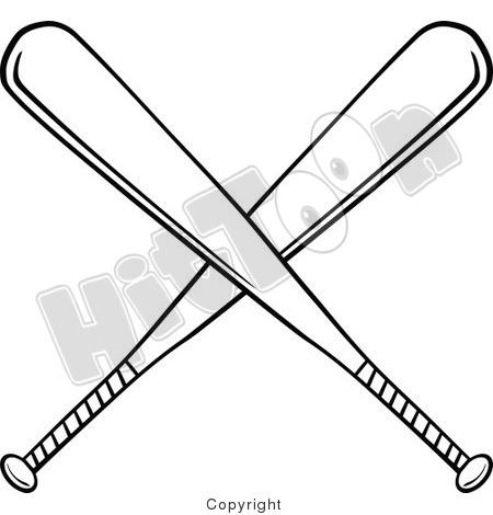 Crossed Baseball Bat% .-crossed baseball bat% .-13