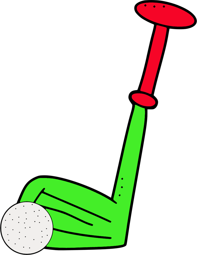 Crossed Golf Clubs With Golf Ball-crossed golf clubs with golf ball-15