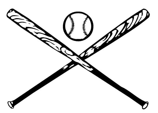 Crossed Baseball Bats Clipart Black And -Crossed Baseball Bats Clipart Black And White Vector Of A Ball And 2-16