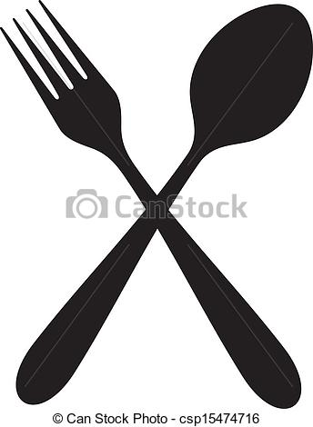 ... crossed fork and spoon