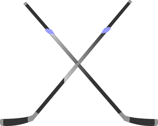 ... Crossed hockey sticks clipart ...