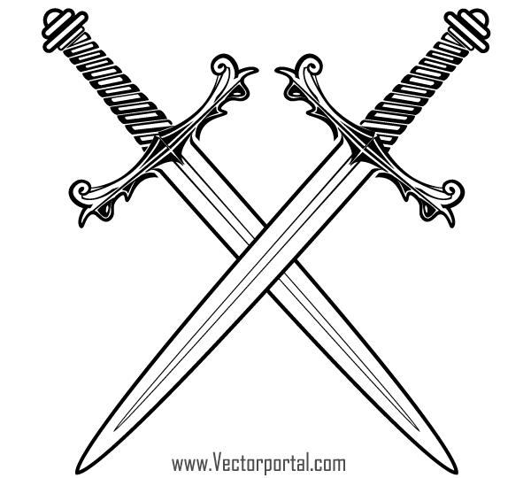 Crossed Swords Clip Art-Crossed Swords Clip Art-7