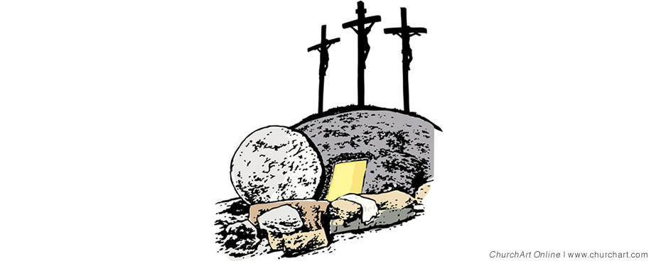 crosses Easter Sunday clip-art
