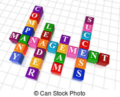 ... crossword 19 - management - 3d colour cubes crossword ...