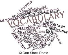 Crossword Clip Artby Suljo1/202; Vocabulary - Abstract word cloud for Vocabulary with related.