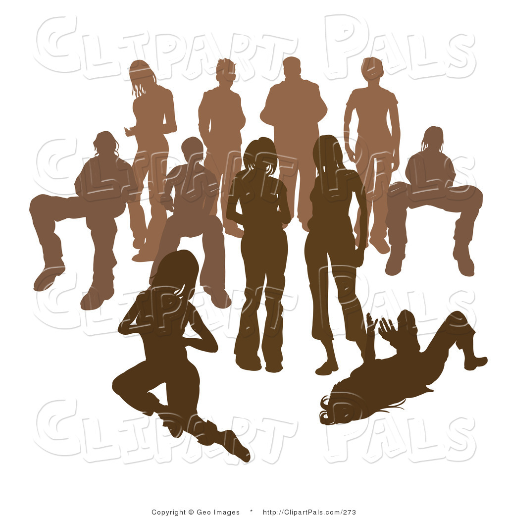 crowd of people clipart
