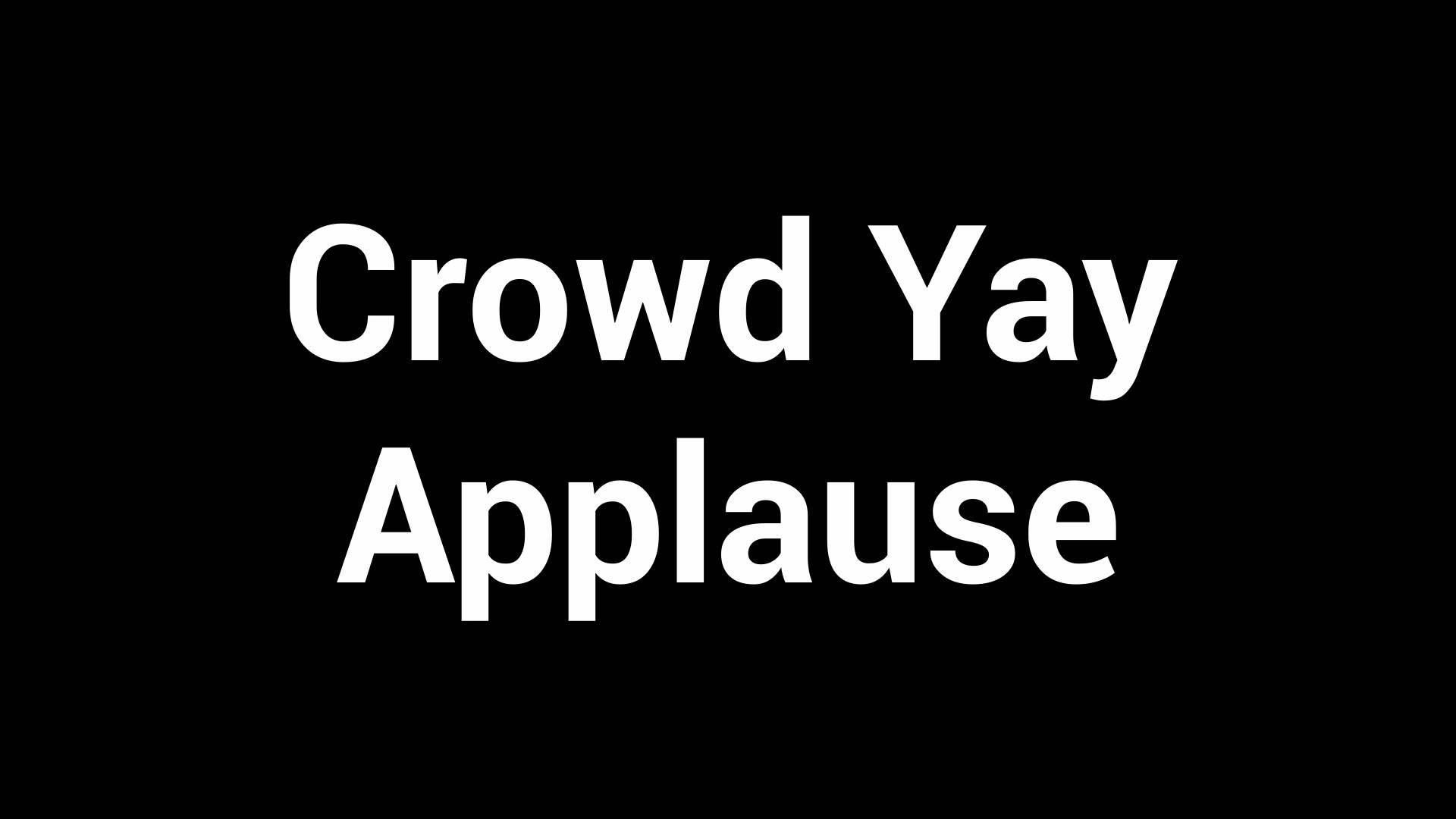 Crowd Yay Applause Sound Effect. Audio Enabled