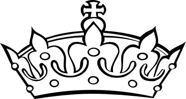 Crown Clipart Black And White-crown clipart black and white-0