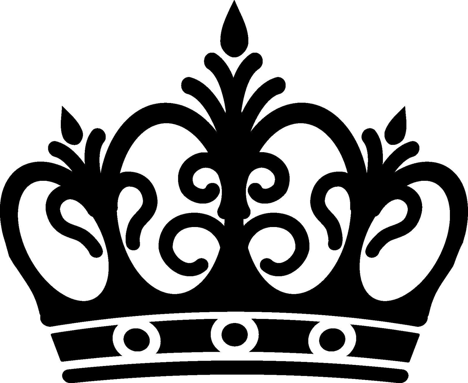 Crown Clip Art Black And White .