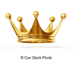 ... Crown - Golden Crown Isolated On A W-... crown - golden crown isolated on a white background-3