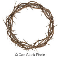 ... Crown Of Thorns Top - A top view of -... Crown Of Thorns Top - A top view of branches of thorns woven.-15
