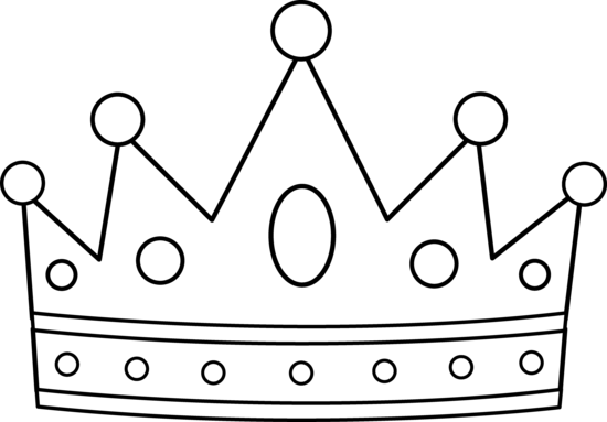 Crown Outline Clip Art. Crown Line Drawing