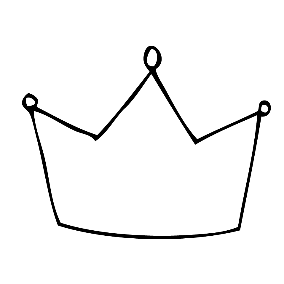 ... Crown outline clipart ... - Crown Outline Clip Art