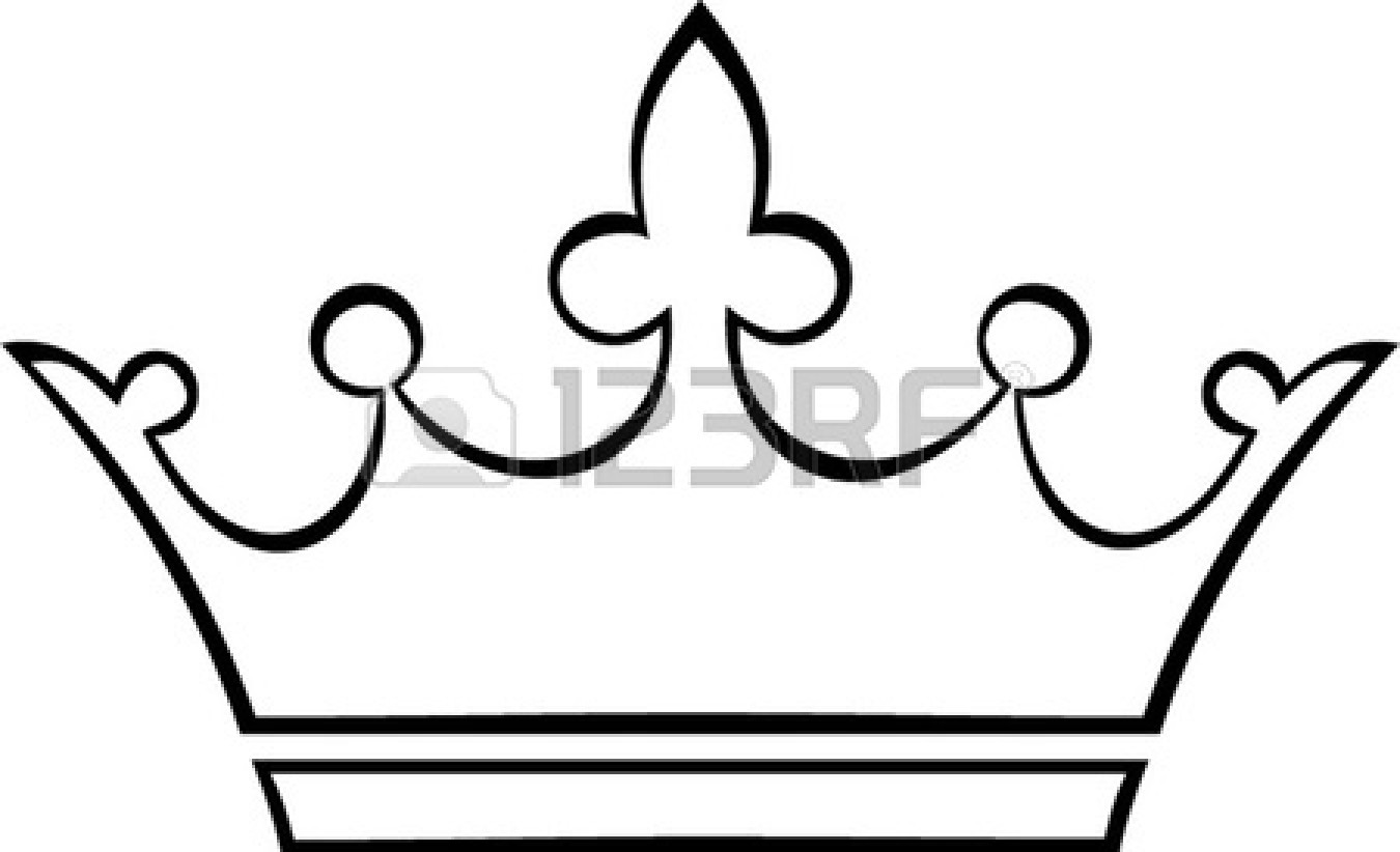 Crown Outline Stock Vector Cl - Crown Outline Clip Art