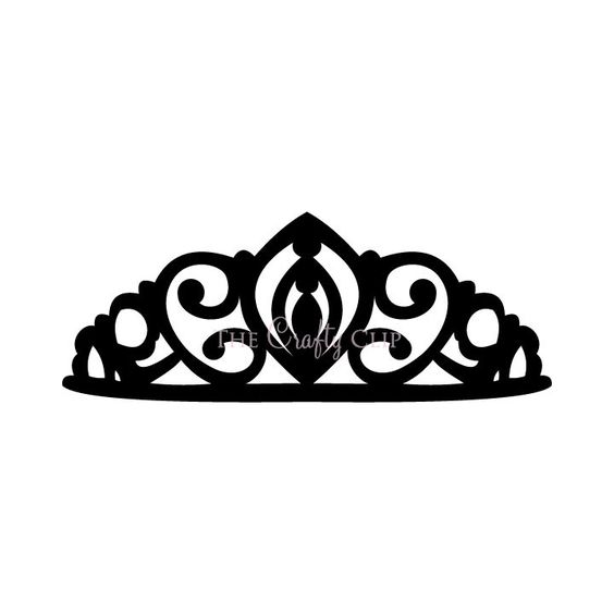 Crown Tiara House Clip Art Black And Whi-Crown Tiara House Clip Art Black And White | with triforce in center-3