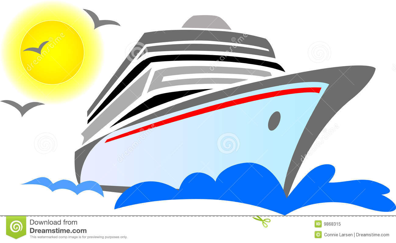 Cruise ship clip art - .