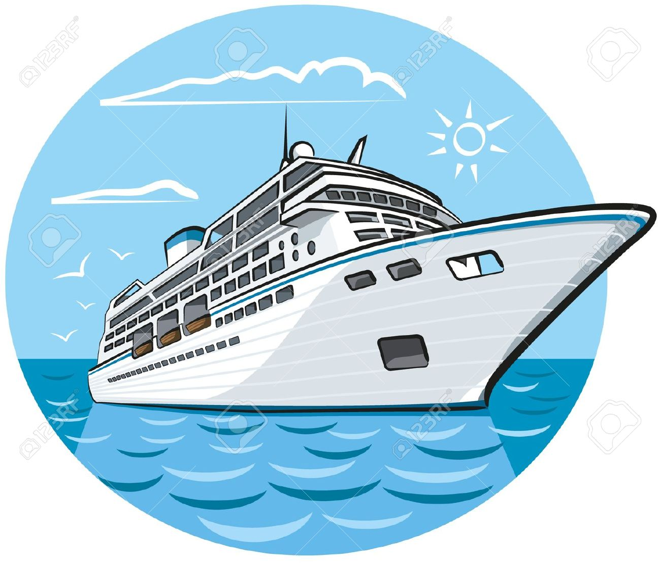 cruise ship: luxury cruise .