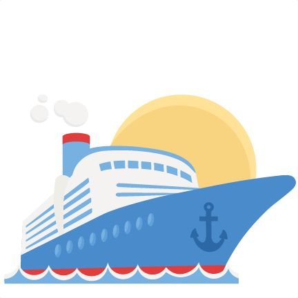 Cruise Ship SVG scrapbook cut .
