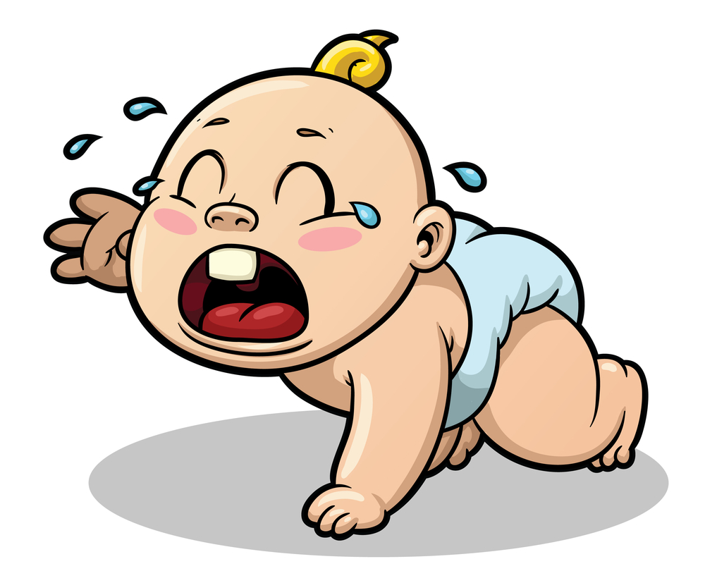 Crying Baby Clipart - .