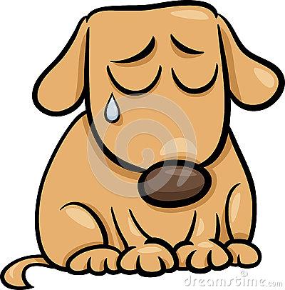 Crying Dog Cartoon .