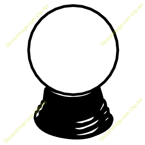 Crystal Ball Clip Art. Crystal Ball Black And White .