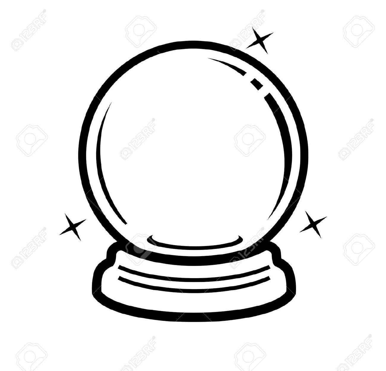 Crystal Ball Clip Art. crystal ball: vec-Crystal Ball Clip Art. crystal ball: vector black .-12