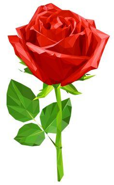 Crystal Red Rose Transparent PNG Clip Art Image